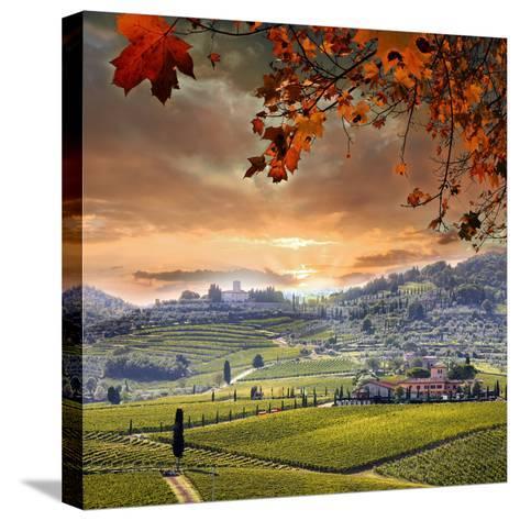 Chianti Vineyard Landscape in Tuscany, Italy-extravagantni-Stretched Canvas Print