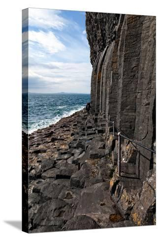 Basalt Columns by the Sea on the Isle of Staffa, Scotland-Spumador-Stretched Canvas Print