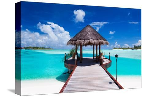 Jetty with Amazing Ocean View on Tropical Island-Martin Valigursky-Stretched Canvas Print