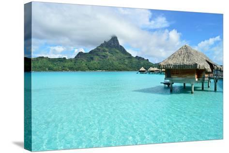 Luxury Overwater Vacation Resort on Bora Bora-pljvv-Stretched Canvas Print