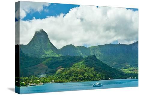 Paradise View of Moorea Islands, Cook's Bay, French Polynesia-mffoto-Stretched Canvas Print