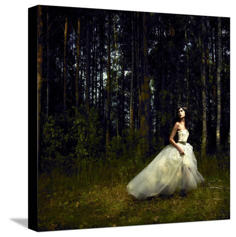 Romantic Girl in Fairy Forest-George Mayer-Stretched Canvas Print