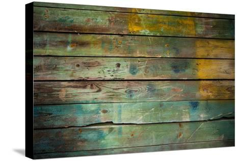 Wood Grungy Background-Arcady31-Stretched Canvas Print