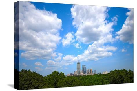 Boston Skyline Wide Angle-msymons-Stretched Canvas Print