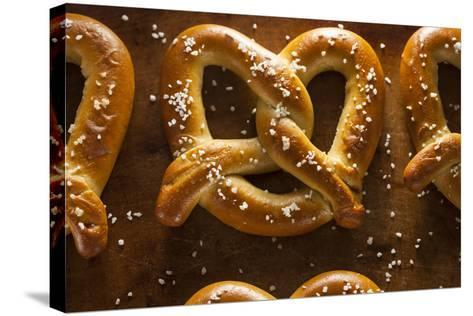 Homemade Soft Pretzels with Salt-bhofack22-Stretched Canvas Print