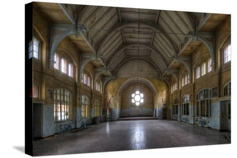 Old Sportshall-kre_geg-Stretched Canvas Print