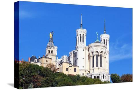 Basilica of Notre-Dame De Fourviere in Lyon-prochasson-Stretched Canvas Print