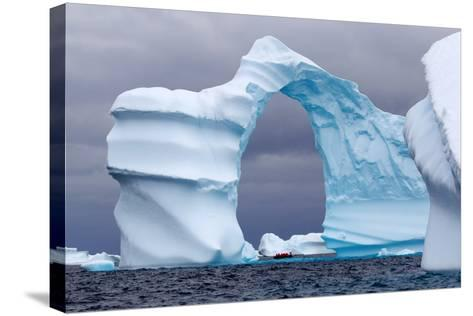 Huge Arch Shaped Iceberg in Antarctica-slew11-Stretched Canvas Print