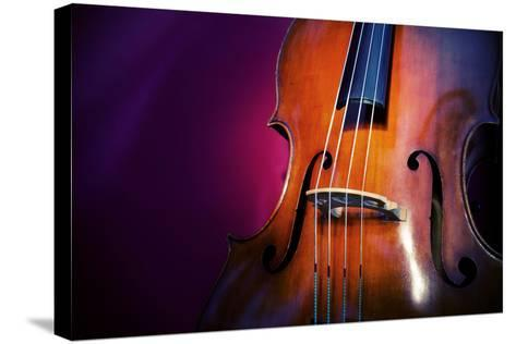 Double Bass-lachris77-Stretched Canvas Print