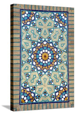 Tiled Mosque - Iran - Tomb of Hazrat Abdul Azim Hasani-saeedi-Stretched Canvas Print