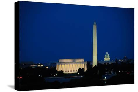 Washington DC Skyline-Matthew Carroll-Stretched Canvas Print