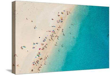 Top View of Beautiful Dreamy Beach-Jag_cz-Stretched Canvas Print