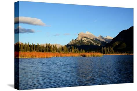 Mount Rundle and Vermilion Lakes in Autumn,Canadian Rockies,Canada-Tatsuo115-Stretched Canvas Print