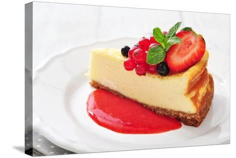 Cheesecake with Fresh Berries-tashka2000-Stretched Canvas Print