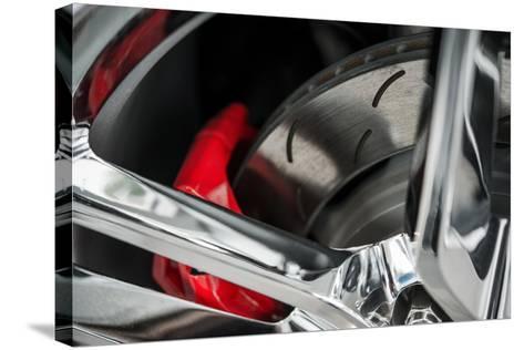 Super Car Brakes-duallogic-Stretched Canvas Print