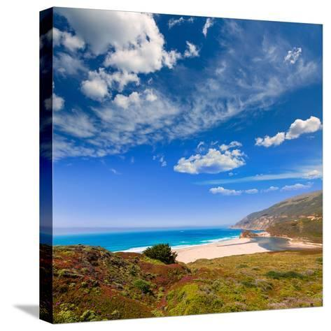 California Beach in Big Sur in Monterey Pacific Highway along State Route 1 US-holbox-Stretched Canvas Print