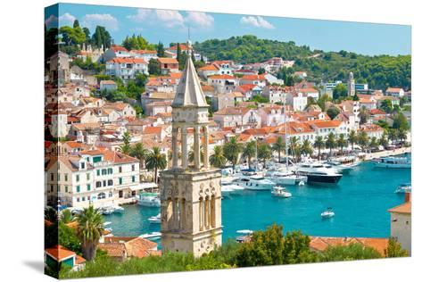 Amazing Town of Hvar Harbor-xbrchx-Stretched Canvas Print