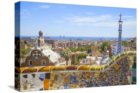 Park Guell in Barcelona-lorenzobovi-Stretched Canvas Print