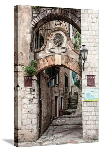 Narrow Street in Kotor, Montenegro-miropink-Stretched Canvas Print