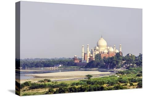 Taj Mahal in Agra-Jorg Hackemann-Stretched Canvas Print