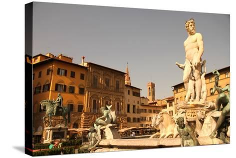 Fountain of Neptune in Florence.-Spectral-Design-Stretched Canvas Print