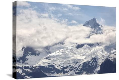 Snow Capped Mountain in the Glacier Bay National Park, Alaska-BostoX-Stretched Canvas Print