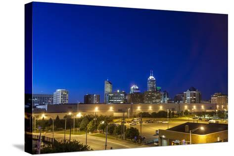 Indianapolis Downtown, Indiana, Usa-Sopotniccy-Stretched Canvas Print