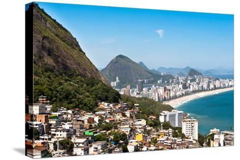 Rio De Janeiro Favela and Ipanema Beach View-dabldy-Stretched Canvas Print