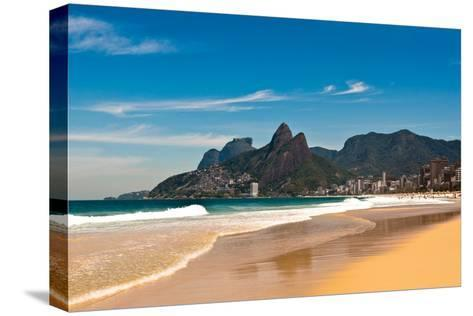 Ipanema Beach on Sunny Summer Day-dabldy-Stretched Canvas Print
