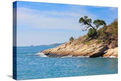 Beach and Tropical Sea-Ronnachai-Stretched Canvas Print