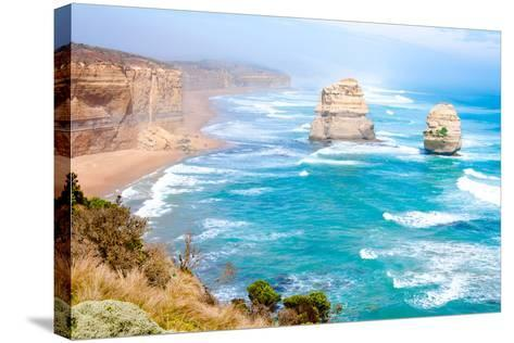 The Twelve Apostles by the Great Ocean Road in Victoria, Australia-StanciuC-Stretched Canvas Print