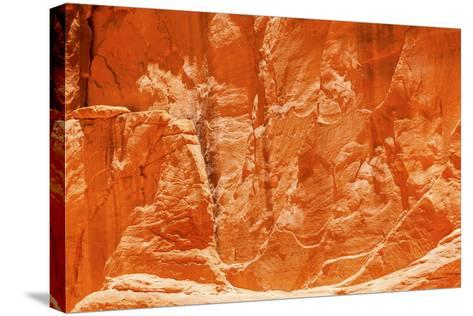 Orange Yellow Sandstone Rock Canyon Abstract Sand Dune Arch Arches National Park Moab Utah-BILLPERRY-Stretched Canvas Print