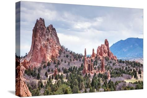 Garden of the Gods in Colorado Springs-photo ua-Stretched Canvas Print