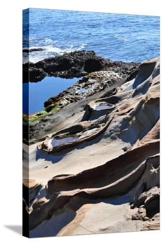 Point Lobos Rock Carvings-CaliPixs-Stretched Canvas Print