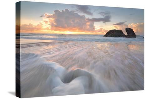 Sunrise and Ocean Flows at Watonga Rocks-lovleah-Stretched Canvas Print