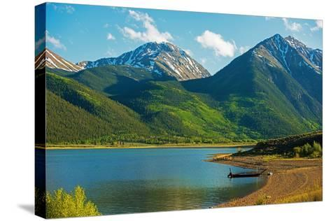 Colorado Twin Lakes-duallogic-Stretched Canvas Print