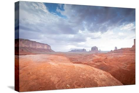 Valley Monument Canyon Colorado Sandstone-weltreisendertj-Stretched Canvas Print