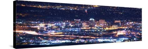 Colorado Springs at Night-duallogic-Stretched Canvas Print