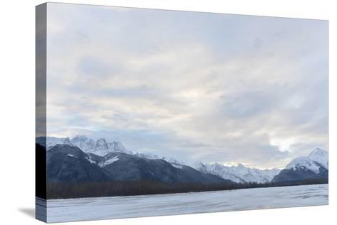 Snowcovered Mountains in Alaska.-SURZ-Stretched Canvas Print