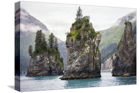 Sea Stacks, Kenai Fjords National Park, Alaska-Steven Schremp-Stretched Canvas Print