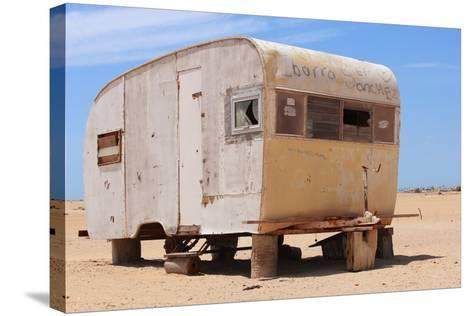 Abandoned Trailer in the Desert-Charles Harker-Stretched Canvas Print