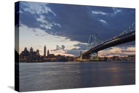Philadelphia at Night-Steven Vona Photography-Stretched Canvas Print