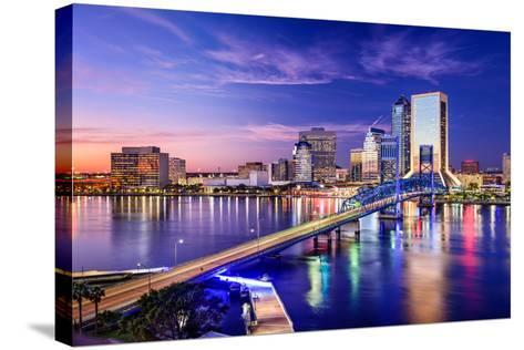 Jacksonville, Florida, USA Downtown City Skyline.-SeanPavonePhoto-Stretched Canvas Print