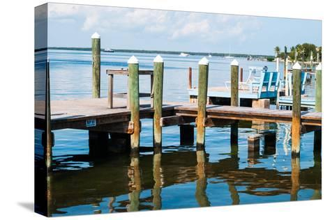 Ocean and Pier in Key Largo-MaryBethCharles-Stretched Canvas Print