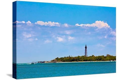 Sanibel Lighthouse and Pier-KennethKeifer-Stretched Canvas Print