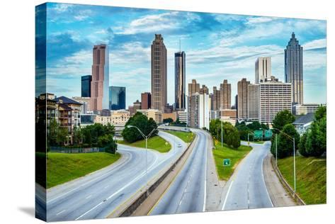 Atlanta Downtown Skyline-Rob Hainer-Stretched Canvas Print