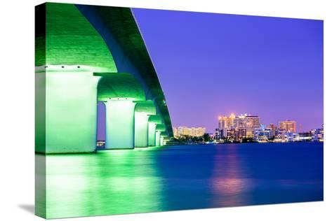 Sarasota, Florida, USA Downtown City Skyline.-SeanPavonePhoto-Stretched Canvas Print