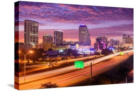 Orlando, Florida, USA Downtown Cityscape over the Highway.-SeanPavonePhoto-Stretched Canvas Print
