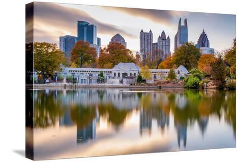 Atlanta, Georgia, USA Autumn Skyline from Piedmont Park.-SeanPavonePhoto-Stretched Canvas Print