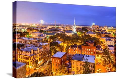 Savannah, Georgia, USA Skyline.-SeanPavonePhoto-Stretched Canvas Print